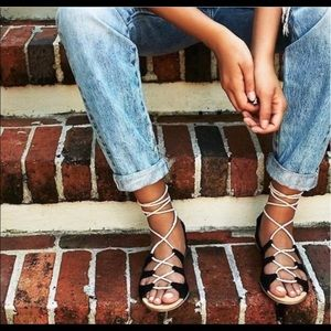 Free People Marrakesh Suede Lace Up Sandals